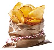 Lamb Weston PR Skin on sliced Chips 5 x 2 kg Becher