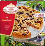 Conditorei Coppenrath & Wiese Altböhmischer Pflaumenkuchen Ø26 cm, individuell portionierbar, verzehrfertig, ungeschnitten 1,25 kg Packung