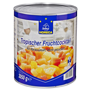 Horeca Select Tropischer Fruchtcocktail Mix aus Ananas, Guave, rote & gelbe Papaya in Maracujasaft 3,1 l Dose