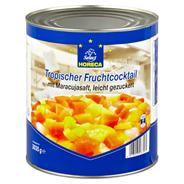 Horeca Select Tropischer Fruchtcocktail Mix aus Ananas, Guave, rote & gelbe Papaya in Maracujasaft 6 x 3,1 l Dosen