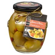 Fine Food Finestro Grüne Oliven Jalapeno & Paprika 395 ml Glas