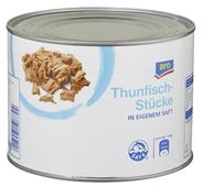 Aro Thunfischstücke in eigenem Saft 1,705 kg Dose