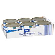 aro Thunfischstücke in eigenem Saft 6 x 1,705 kg Dosen