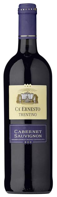 Ca'Ernesto Cabernet Sauvignon Rotwein DOC Qualitätswein mit kontrollierter Ursprungsbezeichung 6 x 0,75 l Flaschen