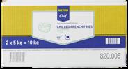 METRO Chef Pommes Frites 10 x 10 mm, 2 Stück à 5 kg - 10 kg Karton