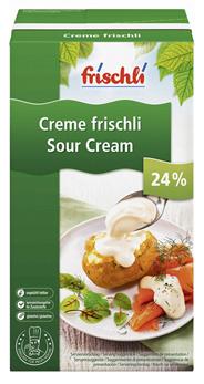 Frischli Sauerrahm 24 % Fett - 12 x 1,00 kg Faltschachteln