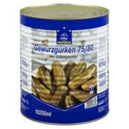 Horeca Select Gewürzgurken 75/80, tafelfertig mit Süßungsmitteln 10,2 l Dose