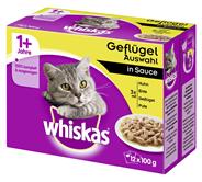 Whiskas saftige Häppchen für Katzen in Sauce, 12 Stück á 100 g 1,2 kg Karton