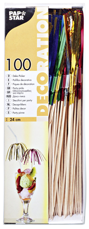 Papstar Deko-Picker Feuerwerk 15,5 cm - 100 Stück