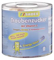 Sadex Traubenzucker Mix aus Orange, Zitrone & Himbeer, mit Vitamin C 650 g Dose