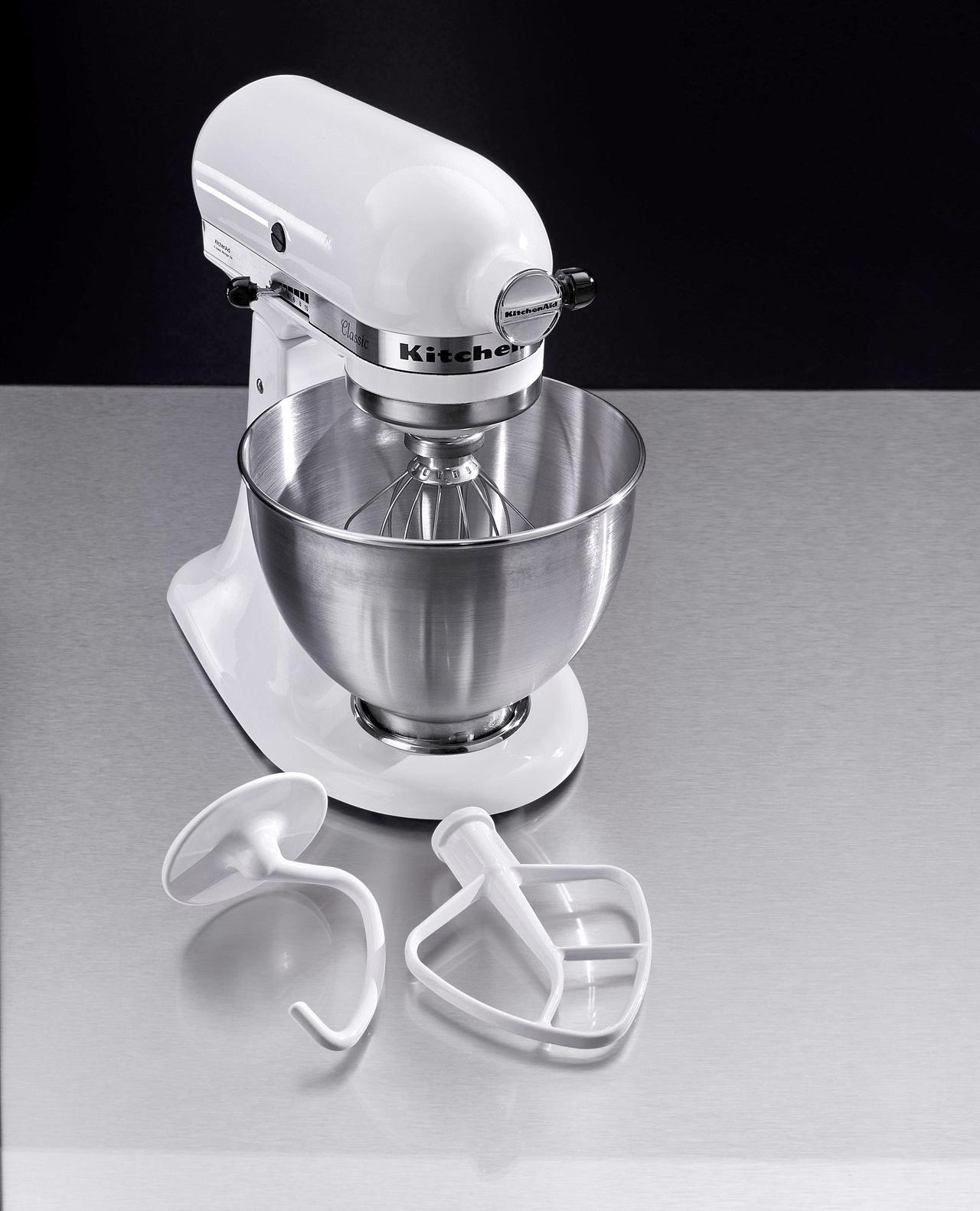 kitchenaid küchenmaschine 5k45ssewh metallgehäuse weiß