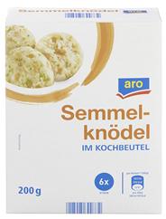 aro Semmelknödel im Kochbeutel 6 Stück Packung