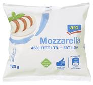 aro Mozzarella 45 % Fett i. Tr. 125 g Beutel