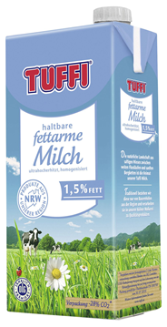Tuffi H-Milch 1,5 % Fett 12 Packungen