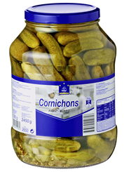 Horeca Select Cornichons verzehrfertig, in Essig eingelegt 2,65 l Glas