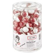 Kuefa Brauselutscher Rot & Weiß 100 Stück á 17 g 1,7 kg Dose