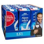 Weihenstephan fettarme H-Alpenmilch 1,5 % Fett 12 x 1 l Packungen