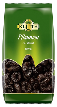 Kluth Pflaumen entsteint getrocknet 4 x 1 kg Beutel