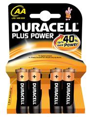 Duracell Alkaline Plus Power AA 1.500 mAh Mignon 4 Stück