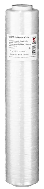 Heckmann Stretchfolie 300 m x 500 mm Transparent Rolle