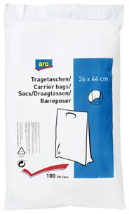 aro Tragetaschen Weiß-Transluzent, 36 x 44 cm - 100 Stück