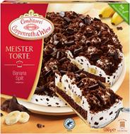 Conditorei Coppenrath & Wiese Meistertorte Bananasplit Ø26 cm , individuell portionierbar, verzehrfertig, ungeschnitten 1,2 kg Packung
