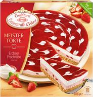 Conditorei Coppenrath & Wiese Meistertorte Erdbeer Frischkäse Ø26 cm, individuell portionierbar, verzehrfertig, ungeschnitten 1,1 kg Packung