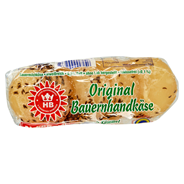 Birkenstock Bauernhandkäse mit Kümmel Weichkäse deutscher Weichkäse, gereift, 0,5 % Fett 250 g