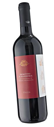 Casalina di Siziano Primitivo di Manduria Rotwein DOC Qualitätswein mit kontrollierter Ursprungsbezeichnung 6 x 0,75 l Flaschen