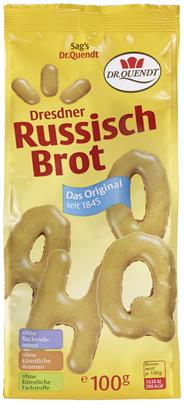 Dr. Quendt Dresdner Russisch Brot Buchstabengebäck 100 g Packung