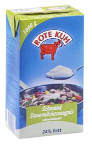 Landgut Nemt Rote Kuh H-Schmand 24 % Fett 12 x 1 l Packungen