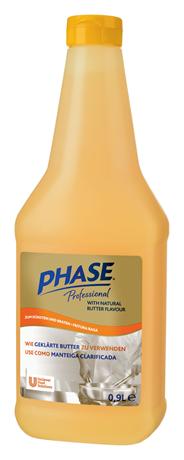 Phase Pflanzenfett 99 % Fett, mit Butteraroma 12 x 900 ml Flaschen