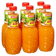 Granini Trinkgenuss Multivitaminsaft mind. 50% Fruchtgehalt 6 x 1 l Flaschen