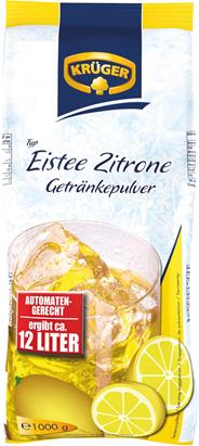 Krüger Eistee Zitrone Getränkepulver 1 kg Beutel