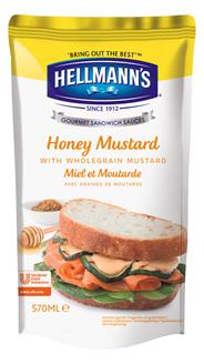 Hellmann's Sandwich Sauce Honig-Senf - 570 ml Beutel