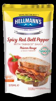 Hellmann'S Sandwich Sauce würziger roter Pfeffer - 570 ml Beutel