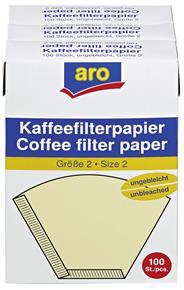 Aro Kaffeefilter Größe 2 3 x 100 Stück Packung