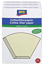 Aro Kaffeefilter GR.6 Braun - 3 x 100 Stück