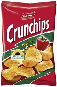Lorenz Crunchips Paprika Kartoffelchips mit Paprika Würzung, 175 g 96 Beutel