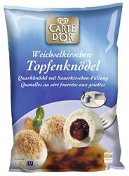 Knorr Carte D'Or Topfenknödel mit Weichselkirschen Füllung 4 x 1,5 kg Beutel