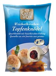 Knorr Carte D'Or Topfenknödel mit Weichselkirschen Füllung 4 x 4 x 1,5 kg Beutel