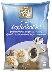 Knorr Carte D' Or Topfenknödel mit Nougat Füllung, 1,5 kg 1,5 kg Beutel