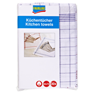 Fairline Küchentücher Form- und farbstabil kariert 50 x 70 cm, 30 Stück