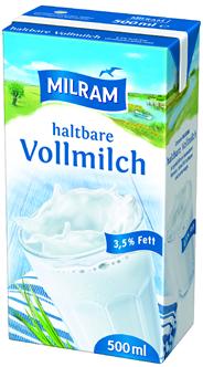 Milram H-Vollmilch 3,5 % Fett 20 x 500 ml Packungen