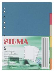 Sigma Ordnerregister DIN A4, 6-tlg. 5 Stück