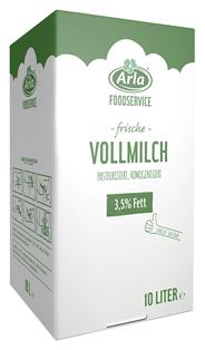Arla frische Vollmilch 3,5 % Fett, pasteurisiert, homogenisiert - 10 l Karton