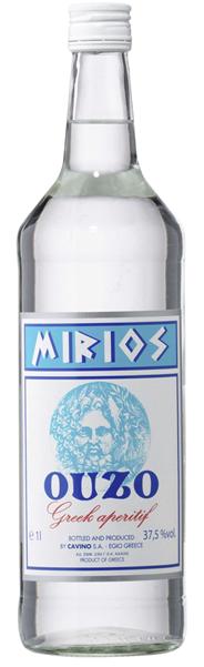 Mirios Ouzo Greek Aperitif 37,5 % Vol. mit Anis Geschmack 6 x 1 l Flaschen