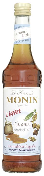Monin Sirup Caramel light - 6 x 700 ml Flaschen