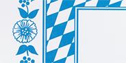Dunicel Mitteldecke Bayrische Raute 84 x 84 cm 1 lagig Blau, Weiß - 20 Stück