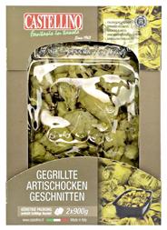 Castellino gegrillte Artischocken geschnitten 2 x 900 g Packung
